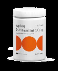 Apteq D-vitamiini 50 mikrog 200 tabl
