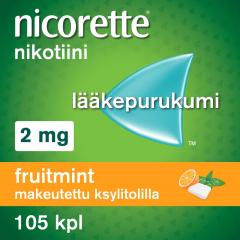 NICORETTE FRUITMINT 2 mg lääkepurukumi 105 fol