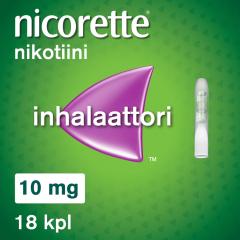 NICORETTE INHALAATTORI 10 mg inhal höyry, kyllästetty patruuna (inhalaattori)18 fol