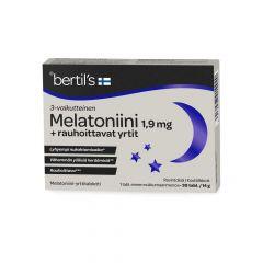 bertils Melatoniini 1,9mg+yrtit 30 tabl