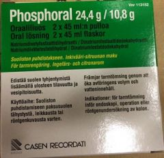PHOSPHORAL 24,4/10,8 g oraaliliuos (542/240 mg/ml)2x45 ml