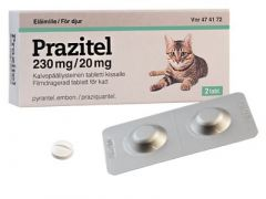 PRAZITEL 230/20 mg vet tabl, kalvopääll (kissalle)2 fol