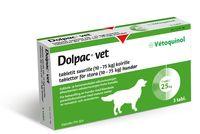 DOLPAC VET TABLETIT SUURILLE KOIRILLE 500,70/124,85/125 mg tabl (10-75 kg)3 fol